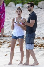 Ashley Greene on the Beach in Cancun (Mexico) - November 2014