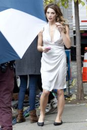 Ashley Greene - on the set of