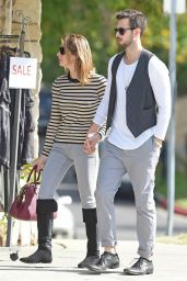 Ashley Greene Street Style - Out With Her Boyfriend in Studio City - November 2014