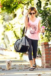 Ashley Tisdale in Leggings - Out in Toluca Lake, November 2014