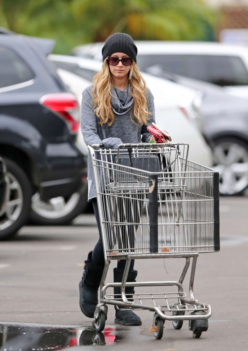 Ashley Tisdale Street Style - Shopping at Whole Foods, Nov. 2014