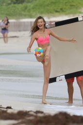 Behati Prinsloo Bikini Candids – Victoria