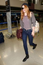Bella Thorne Casual Style - LAX Airport in Los Angeles - Nov. 2014