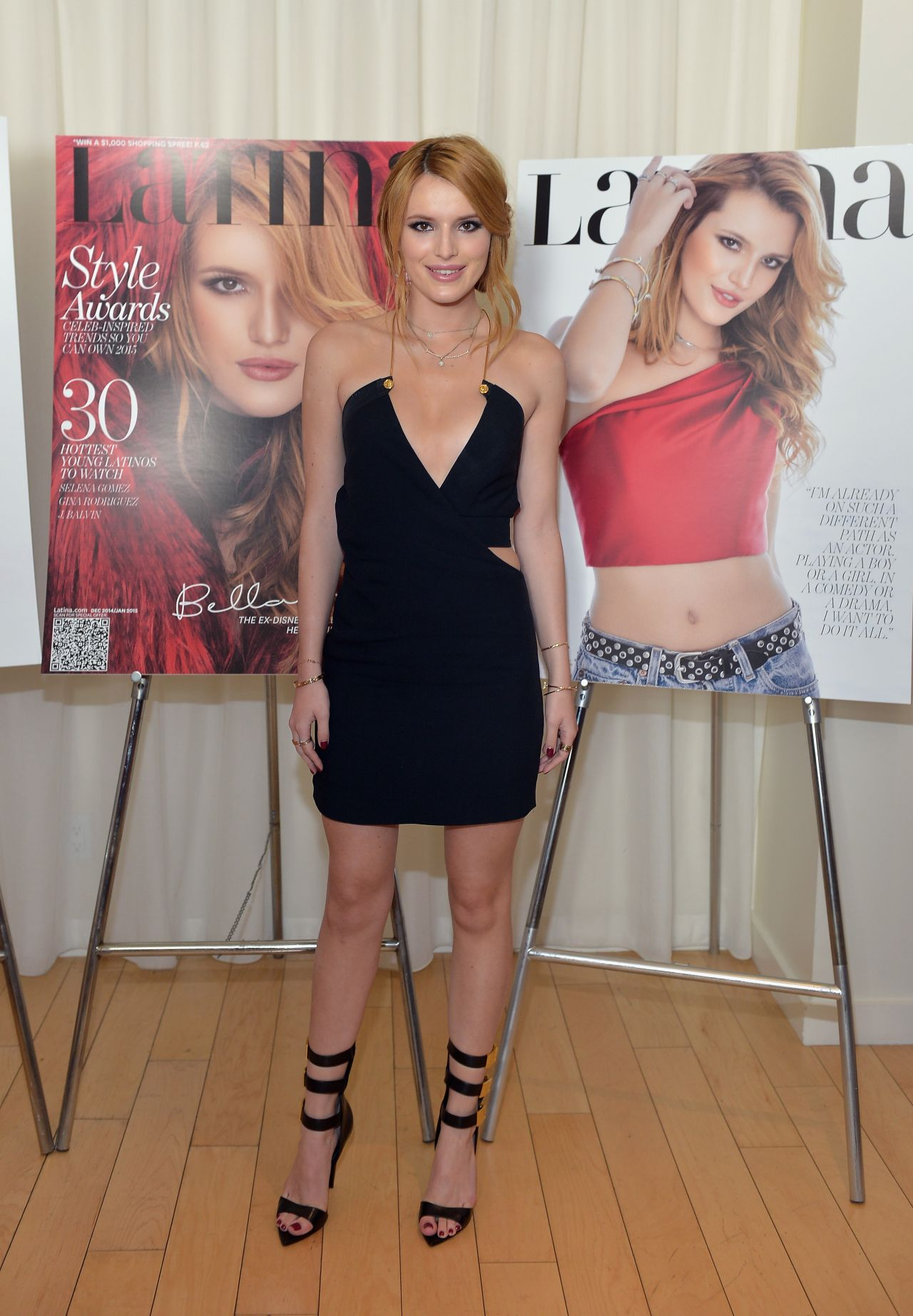 thorne in mini dress at the latina magazine 30 under 30 party in