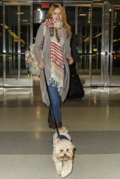 Bella Thorne Street Fashion - at JFK Airport in New York City - November 2014