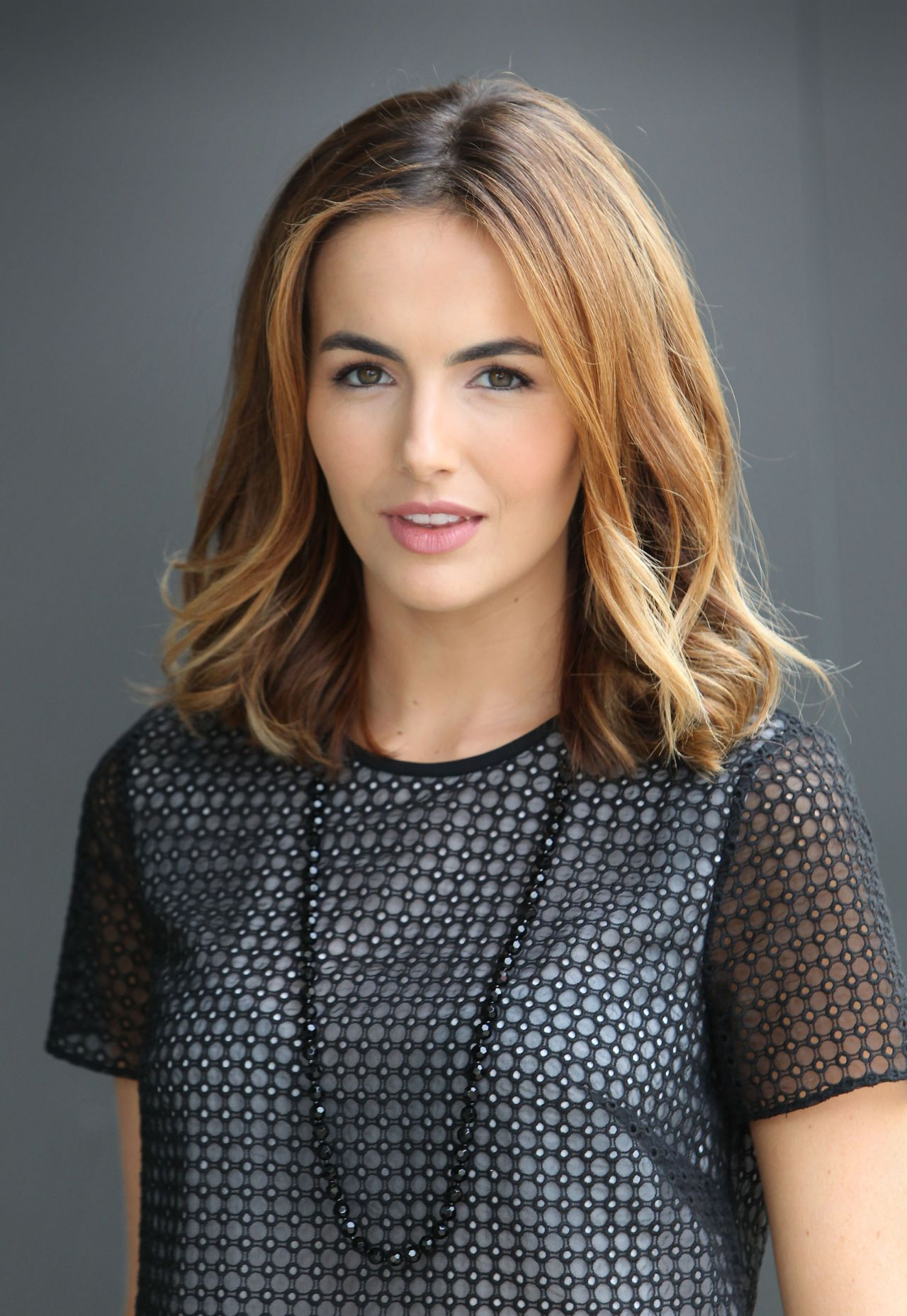 Camilla Belle On The Set Of Extra In Universal City