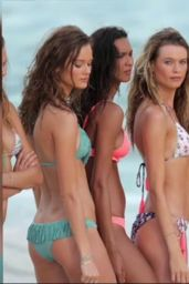 Candice Swanepoel & Behati Prinsloo Bikini Photoshoot - Victoria