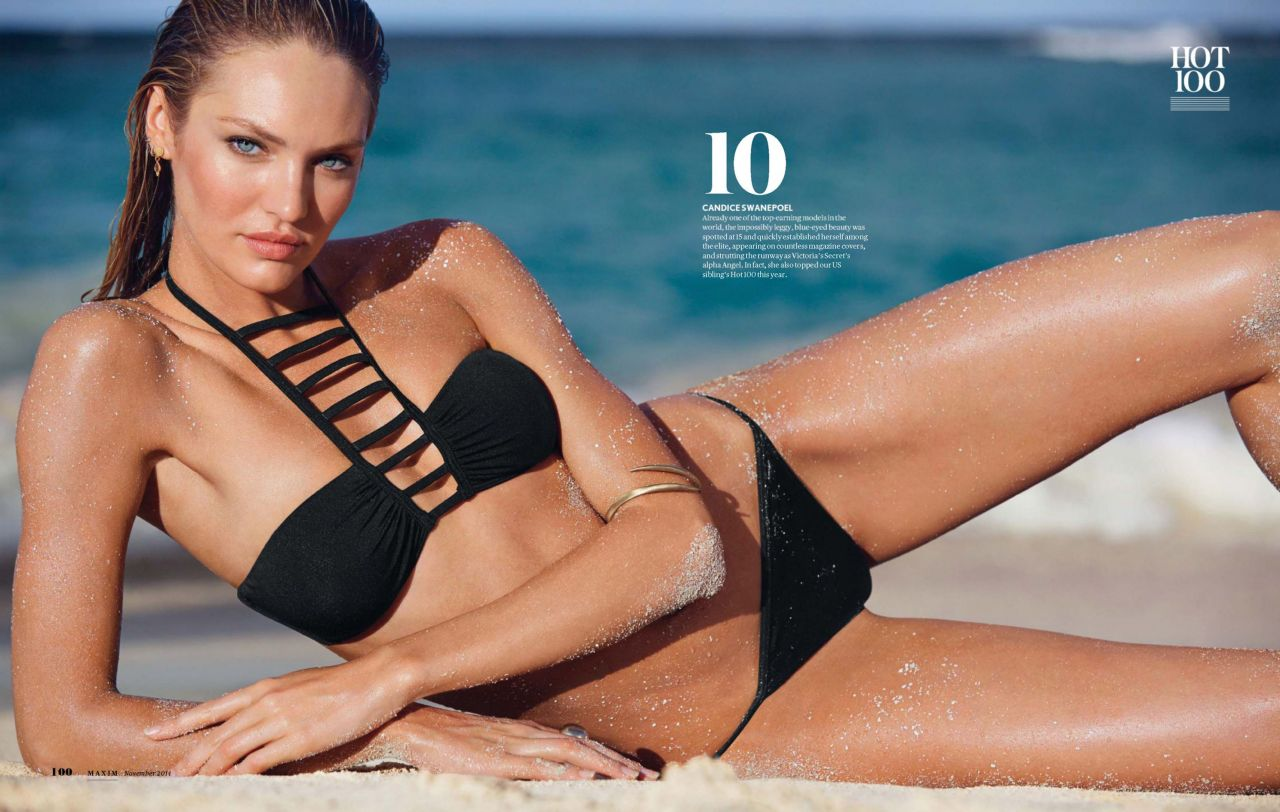 Candice Swanepoel Bikini Photo - Maxim Magazine (India) November 2014 Issue