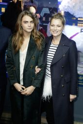 Cara Delevingne & Kate Moss - Printemps Christmas Decorations Inauguration in Paris - November 2014