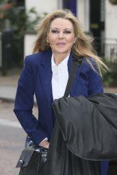 Carol Vorderman - Seen at ITV Studios in London - November 2014