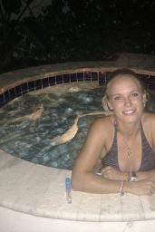 Caroline Wozniacki in a Bikini - Holiday in the Bahamas - November 2014