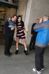Charli XCX - Outside of BBC Radio One Studios in London