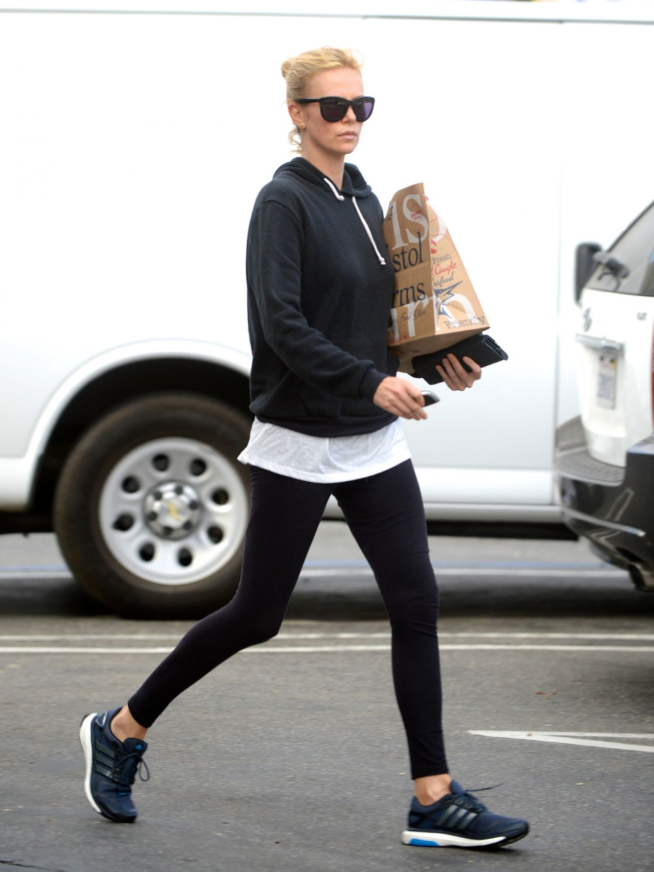 Charlize Theron in Leggings - Leaves a Yoga Class - Nov. 2014