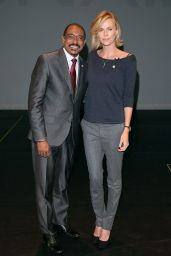 Charlize Theron - Launch of UNAIDS New Fast Track Report in LA - November 2014