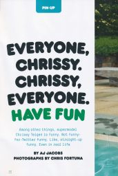 Chrissy Teigen - Esquire Magazine (UK) October 2014 Issue