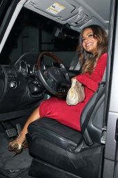 Christina Milian Night Out Style - Out in a Tight Red Dress in Los Angeles
