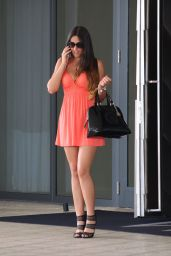 Claudia Romani Leggy in Mini Dress - Out in Miami - November 2014