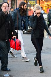 Dakota Fanning Street Style - Out in Soho, New York City - November 2014