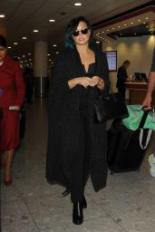 Demi Lovato at Heathrow Airport in London - November 2014