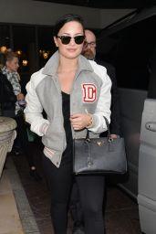 Demi Lovato Street Fashion - Leaving Her Hotel in London - November 2014