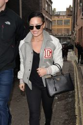 Demi Lovato Street Fashion - Leaving Her Hotel in London - November 2014