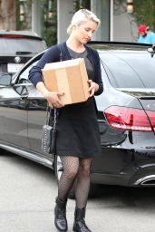 Dianna Agron Street Fashion - Out in West Hollywood - November 2014