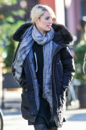 Dianna Agron Style - Out With a Friend in New York City, November 2014