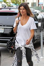 Elisabetta Canalis in Ripped Jeans - Out in West Hollywood, November 2014