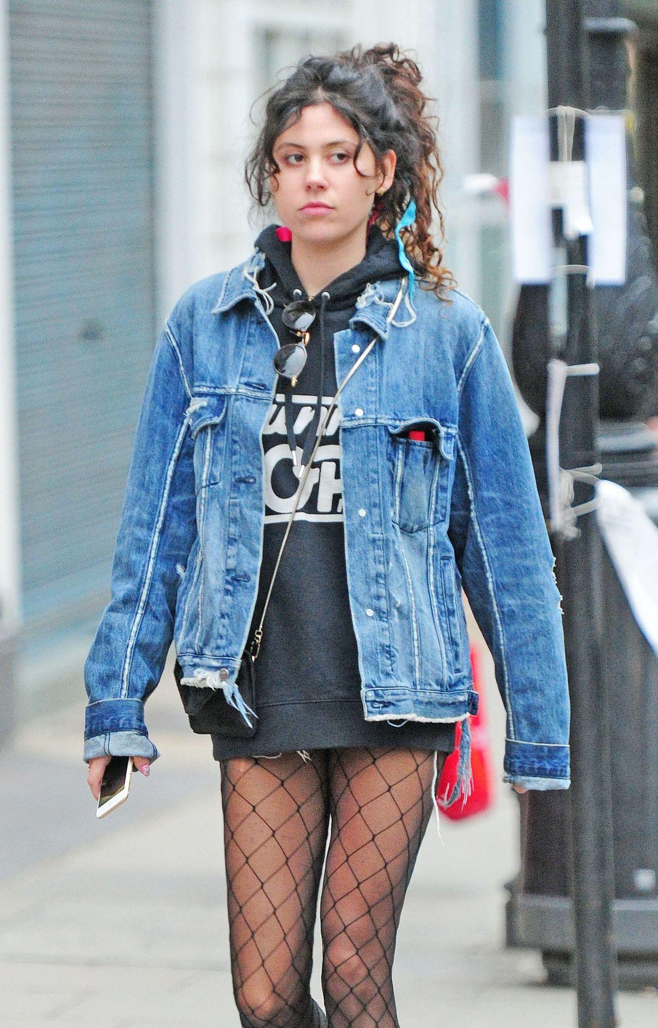 Eliza Doolittle Wearing Stockings -  Out in Primrose Hill - Oct. 2014