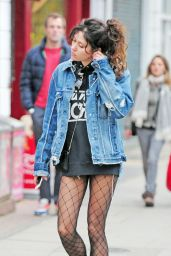 Eliza Doolittle Wearing Stockings -  Out in Primrose Hill - Oct. 2014