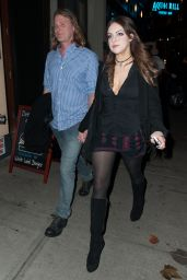 Elizabeth Gillies Night Out Style - Out in NYC, November 2014