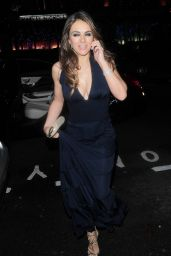 Elizabeth Hurley Night Out Style - at Mandarin Oriental Restaurant in London - Nov. 2014