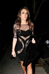 Elizabeth Hurley Night Out Style - Leaves Her Home in London - November 2014