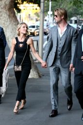 Elsa Pataky and Chris Hemsworth - Leaving the Foxtel Season Launch at Sydney Theatre - October 2014