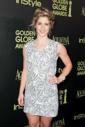 Emily Bett Rickards – HFPA and InStyle's Celebration of the 2015 Golden Globe Award Season in West Hollywood