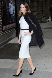 Emily Blunt - Arriving at The Late Show With David Letterman in New York City - Nov. 2014