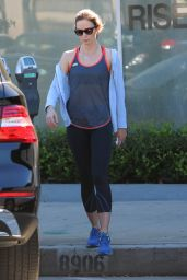 Emily Blunt in Leggings - at a gym in Beverly Hills - November 2014