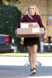 Emily Osment in Mini Dress out in Studio City - November 2014