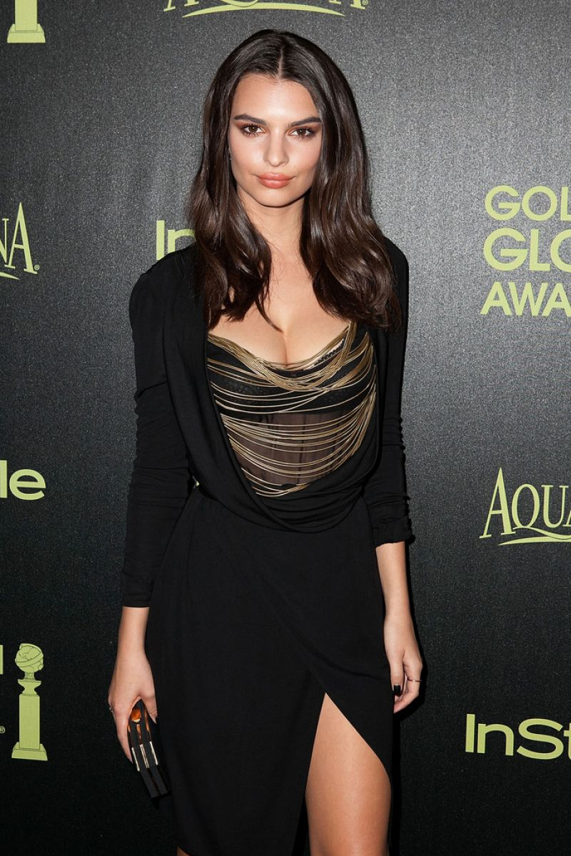 Emily Ratajkowski – HFPA & InStyle Celebrate 2015 Golden Globe Award Season in West Hollywood