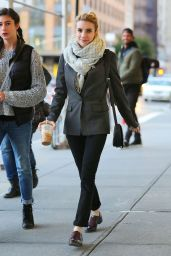 Emma Roberts Fall Style - Walking Around in New York - October 2014