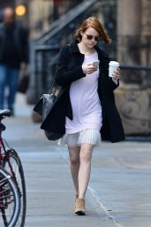 Emma Stone Leggy - Out in New York City - November 2014