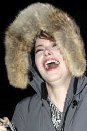 Emma Stone Smile - Leaving Studio 54 in New York City - November 2014