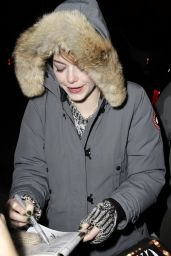 Emma Stone Smile - Leaving Studio 54 in New York City - November 2014