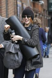 Emma Stone Street Fashion - Out in New York City - November 2014