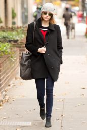 Emma Stone Style - Out in New York City - November 2014