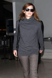 Emma Watson Style - at LAX Airport in Los Angeles, October 2014