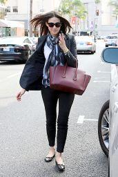 Emmy Rossum Fashion - Leaving a Nail Salon in Los Angeles - November 2014