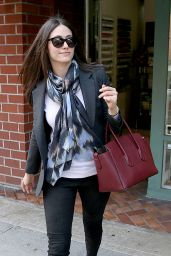 Emmy Rossum Fashion - Leaving a Nail Salon in Los Angeles - November 2014