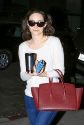 Emmy Rossum - Leaving Nine Zero One Salon in West Hollywood - november 2014