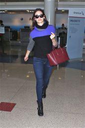 Emmy Rossum Street Fashion - at LAX Airport - November 2014